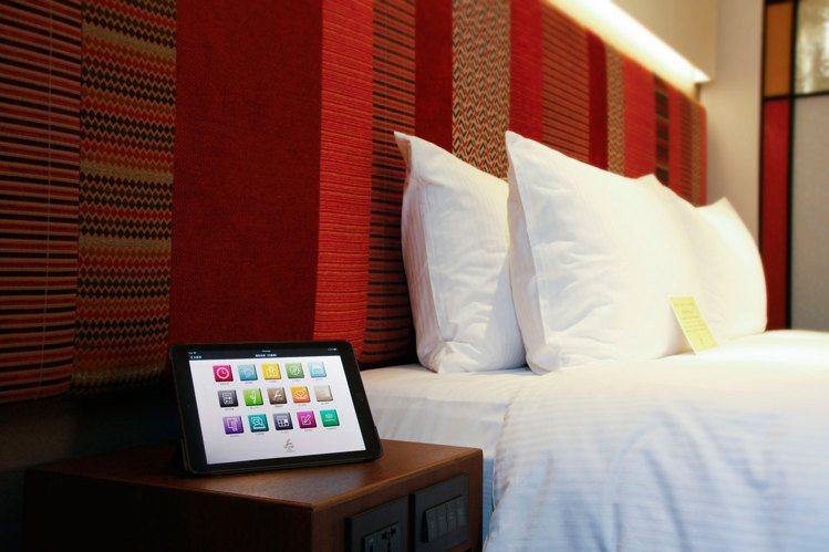 台北亞都麗緻大飯店的iPad智能卓越客房,也納入旅展優惠。圖/麗緻餐旅集團提供