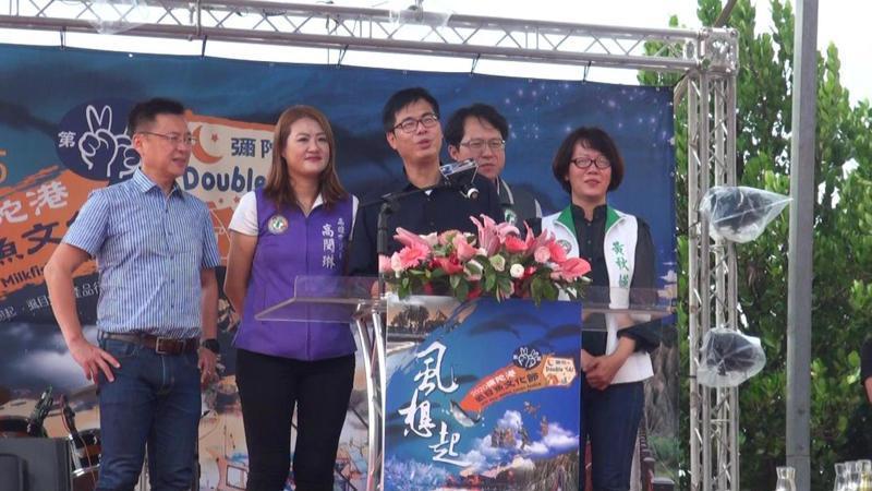 高雄市長陳其邁今早向台南市長黃偉哲開嗆,再邀比虱目魚。記者王昭月/ 攝影