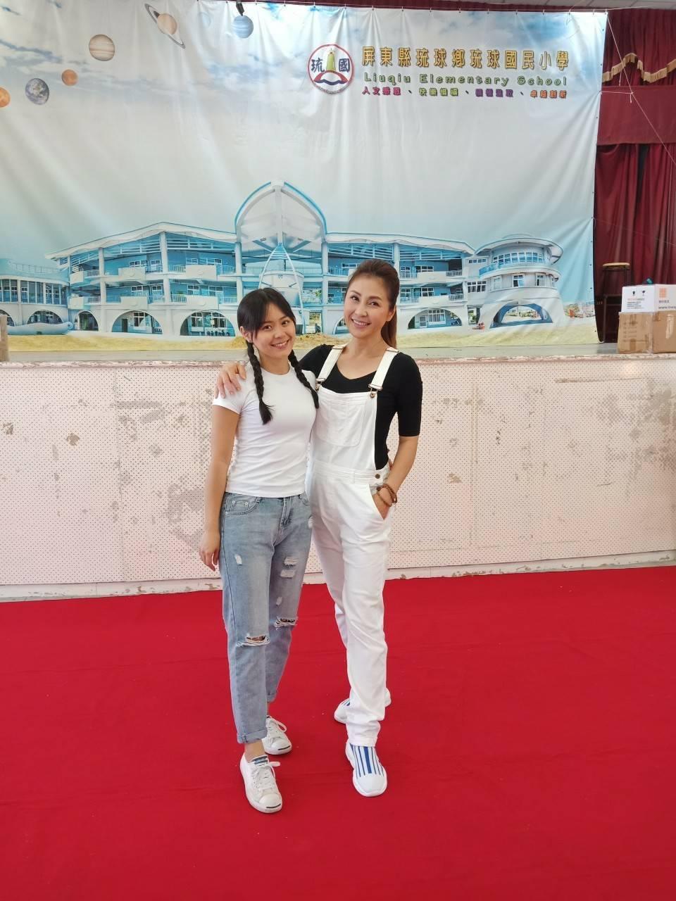 梁佑南帶女兒方琦一起參加公益活動。圖/民視提供