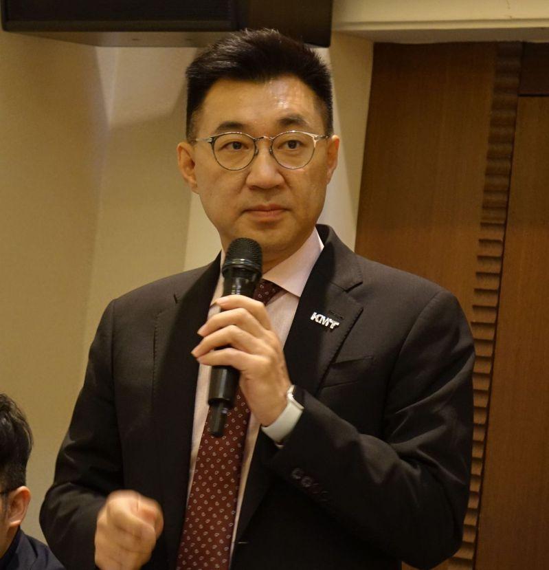 國民黨主席江啟臣表示,20歲到29歲年輕人對國民黨的好感度有上升趨勢。記者楊濡嘉/攝影