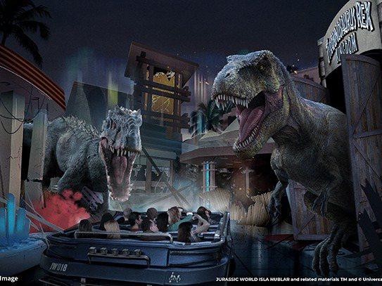 侏羅紀世界─努布拉島效果圖。圖/取自北京環球影城