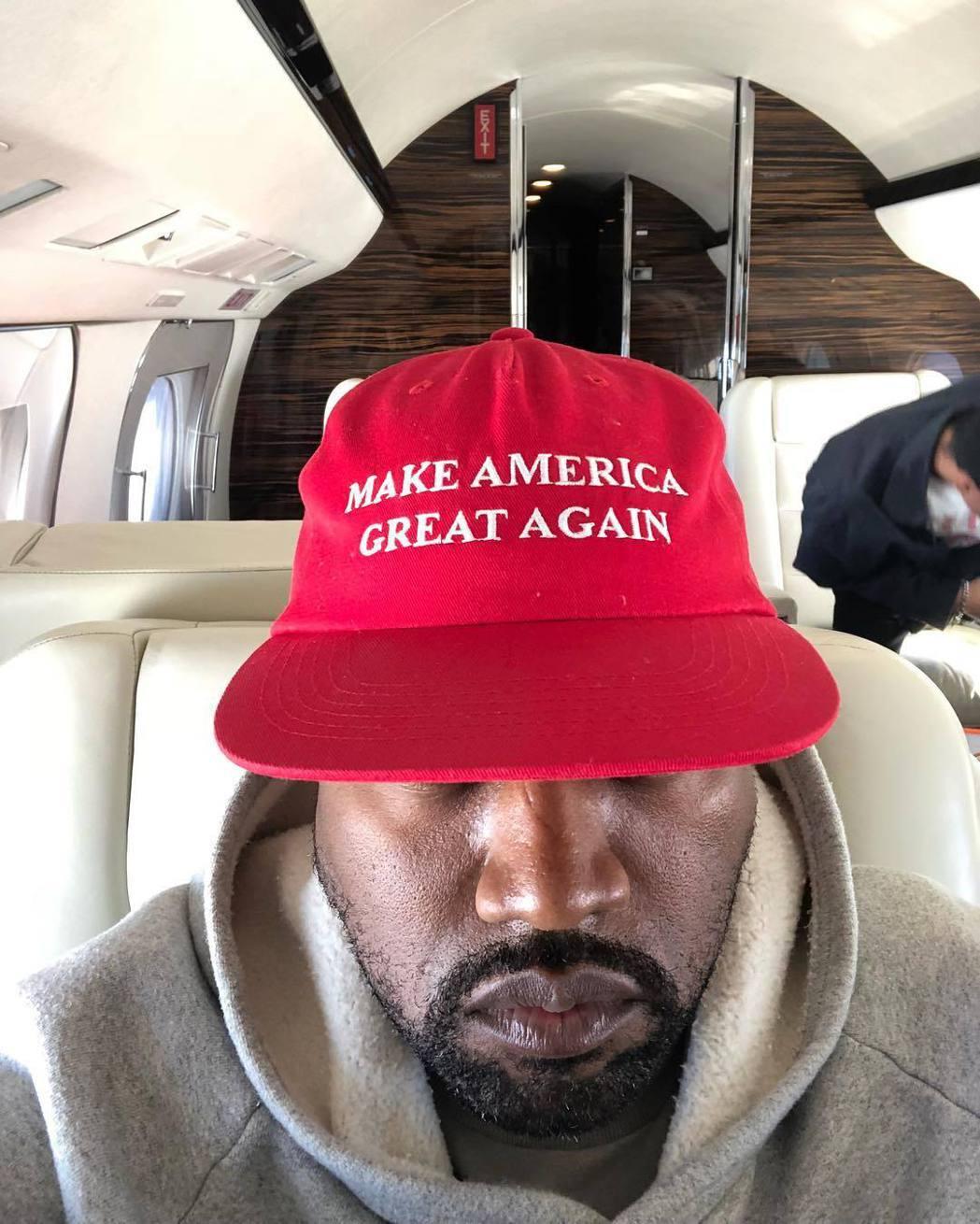 肯伊威斯特對於參選美國總統,一直態度積極。圖/摘自Instagram