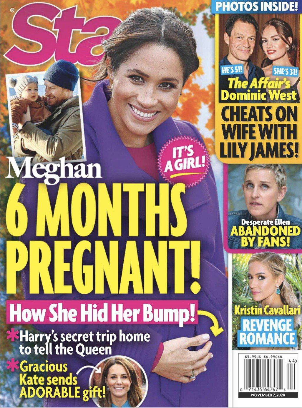 梅根被傳已懷孕6個月,懷的還是女孩。圖/摘自Star