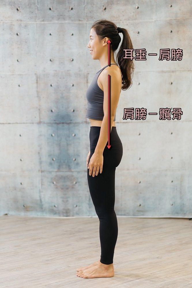 正確的站姿:耳垂、肩膀、髖骨對齊在同一條線上。 圖/取自50+(Fifty Pl...