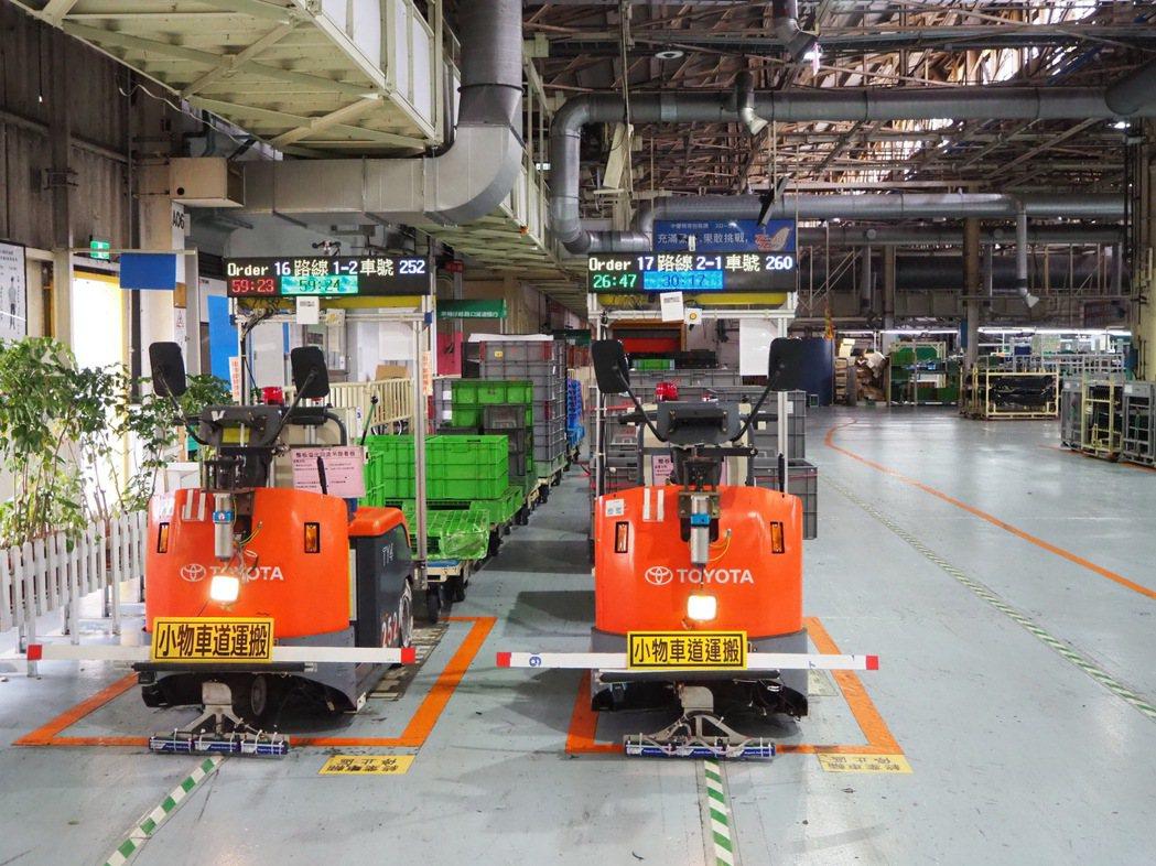 現代化工廠已經大量運用智慧自動化機械設備、機器手臂或無人運送車等科技。 圖/和泰...