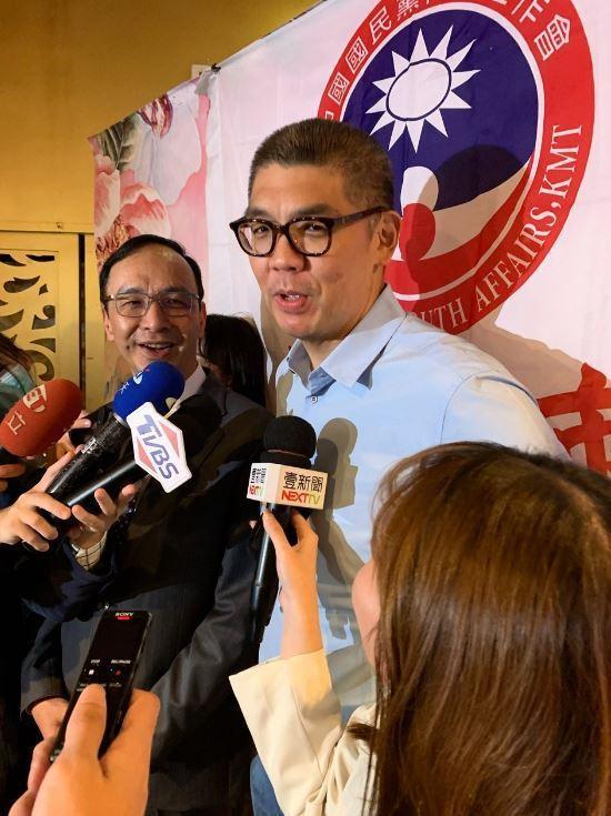 連勝文遭問及對台北市有何想法,只回了一句話「我覺得現在的台北市長做得很差」。記者張睿廷/攝影