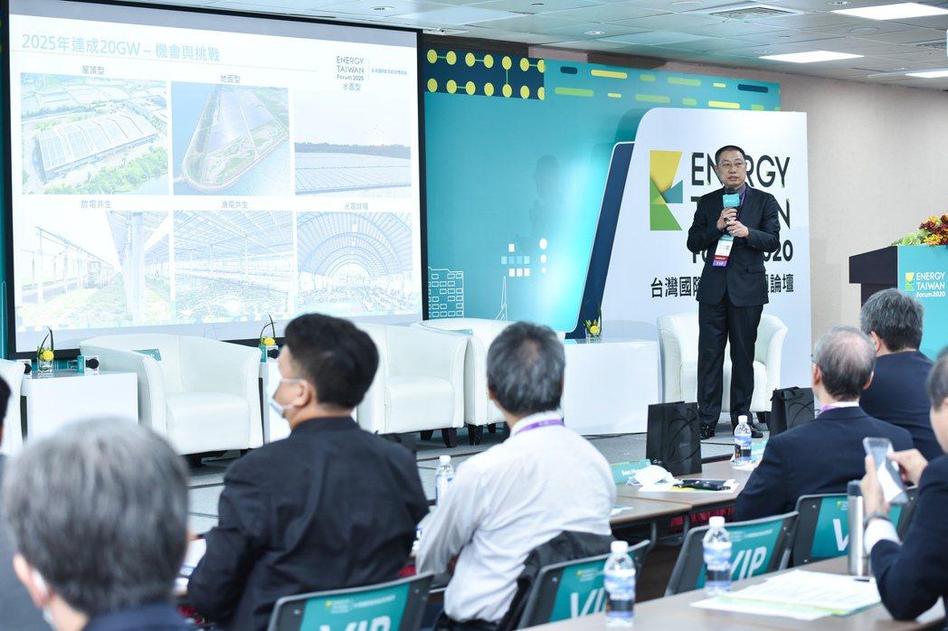 太陽光電發電系統公會理事長蔡宗融。 翁永全/攝影