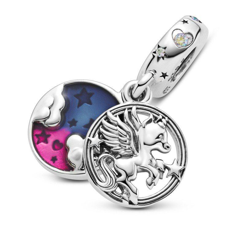 魔幻獨角獸925銀吊飾,2,080元。圖/Pandora提供