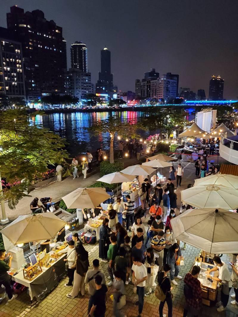 高雄市觀光局本周末舉辦「愛河假日主題市集」。圖/高雄市觀光局提供