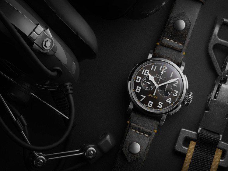真力時PILOT TYPE 20 RESCUE計時腕表以陽剛大氣的設計和復古新面...