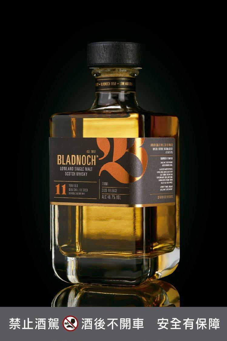布萊德諾赫11年單一麥芽蘇格蘭低地威士忌,建議售價2,470元。圖/橡木桶提供。...