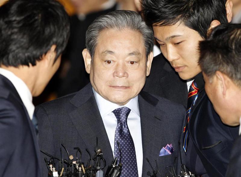 南韓三星電子會長李健熙25日辭世,享壽78歲。圖為2011年檔案照。路透