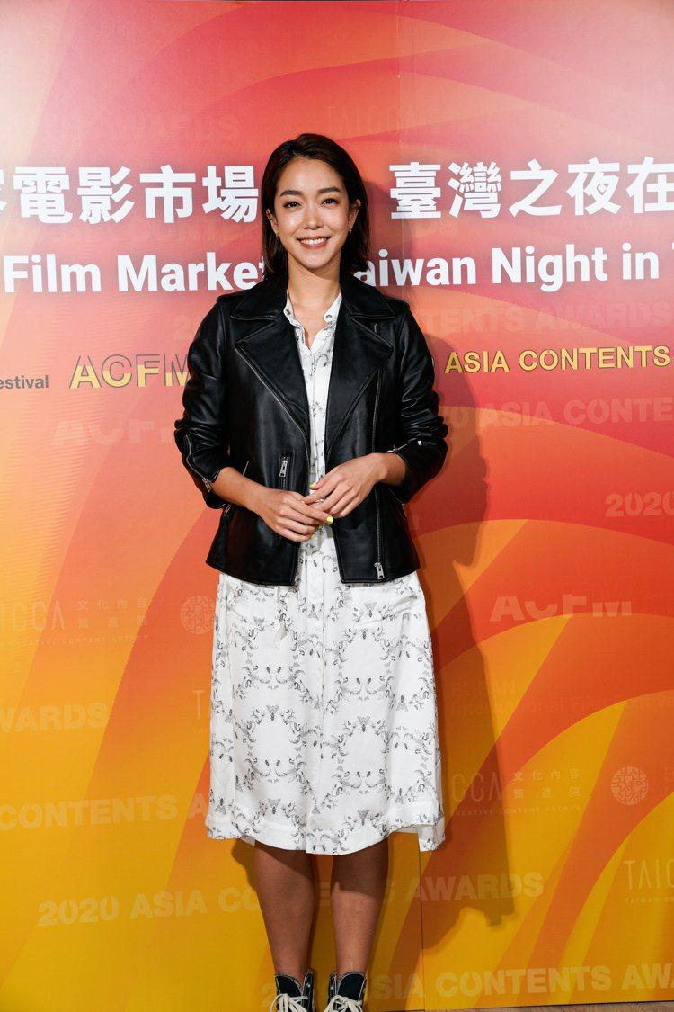 「消失的情人節」女主角大霈出席釜山影展台灣之夜。圖/文策院提供