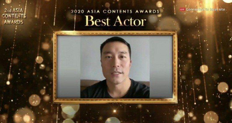 張孝全以「誰是被害者」拿下「亞洲內容獎」最佳男主角獎。圖/摘自YouTube