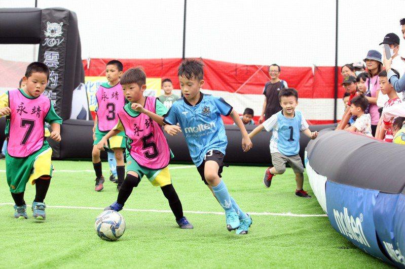 「109年度迷你足球賽」本周在彰化鹿港足球公益園區登場。圖/迷你足球協會提供