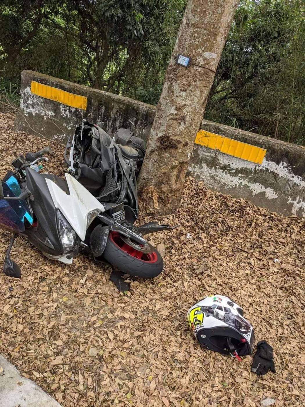 儘管調降速限,彰化八卦山139線21.5公里處今天傍晚還是發生機車撞路樹車禍,機...
