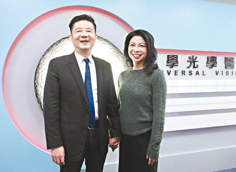 大學光總裁林丕容(左)。記者黃義書/攝影