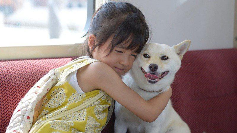 11歲男生今村晄在路上見到牽着狗的小女孩在哭泣,遂上前相助。(《奇蹟車站》劇照)