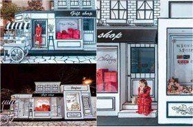台南全新「2D耶誕大道」免費拍!走在漫畫風巴黎街道,夜晚亮燈超浪漫