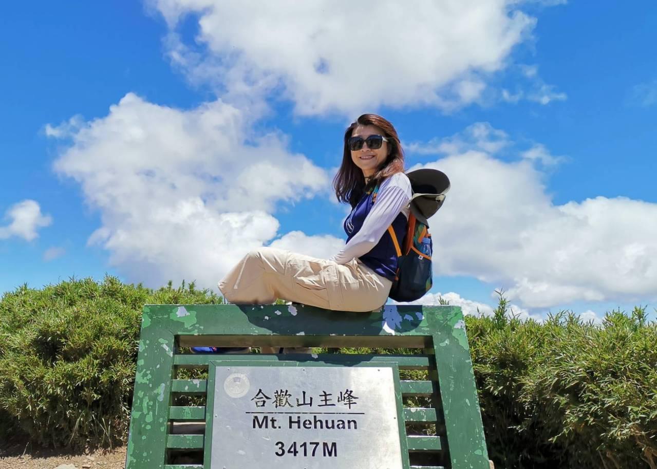 蘭萱認為人生應該有兩座高山,工作跟休閒並進與切換。 照片提供/蘭萱