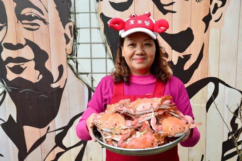 螃蟹達人雪梅姐推薦清蒸的萬里蟹,鮮甜好滋味。  圖/新北農業局提供