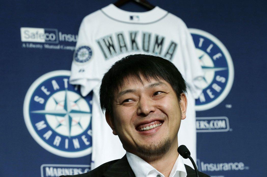 2012年,岩隈加入大聯盟水手隊。 圖/美聯社