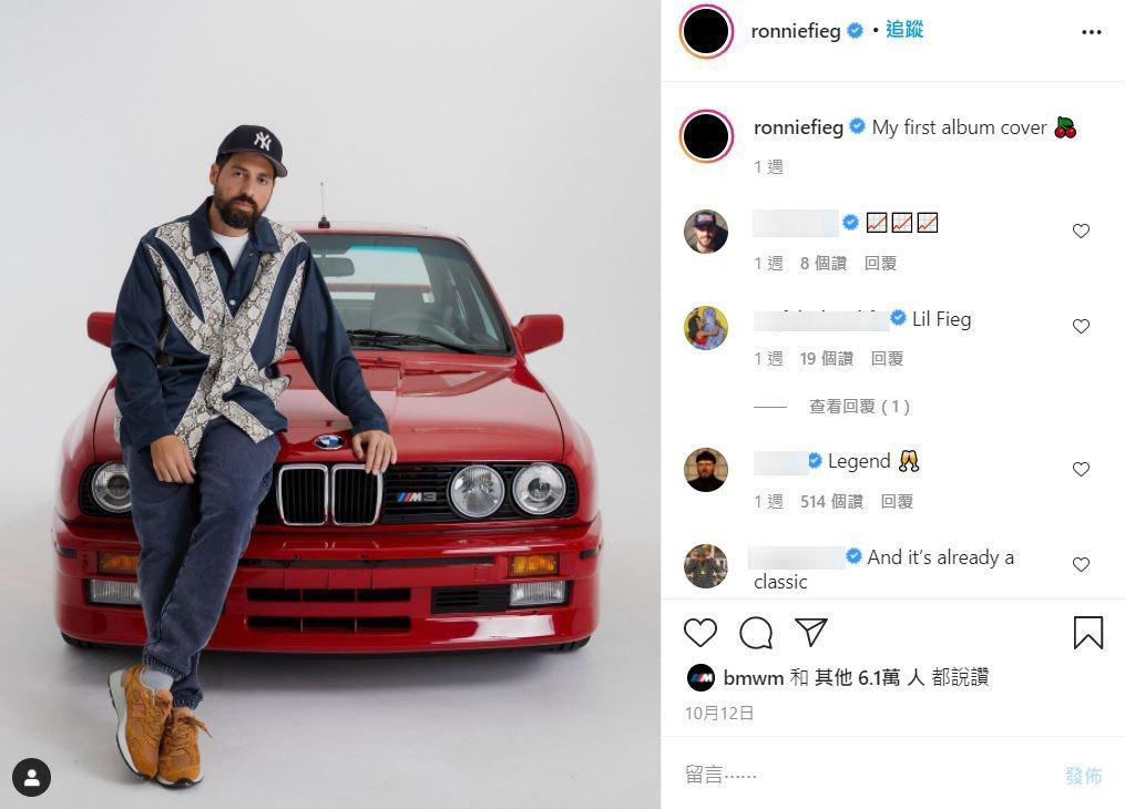 Ronnie Fieg與他的BMW E30 M3。 摘自IG:ronniefie...