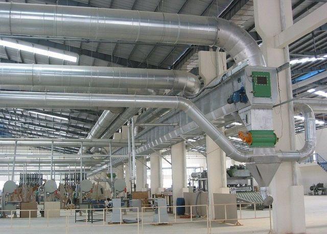 總昌機械推出導管式集塵系統。 工業局/提供