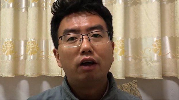 中國維權律師常瑋平。 視頻截圖