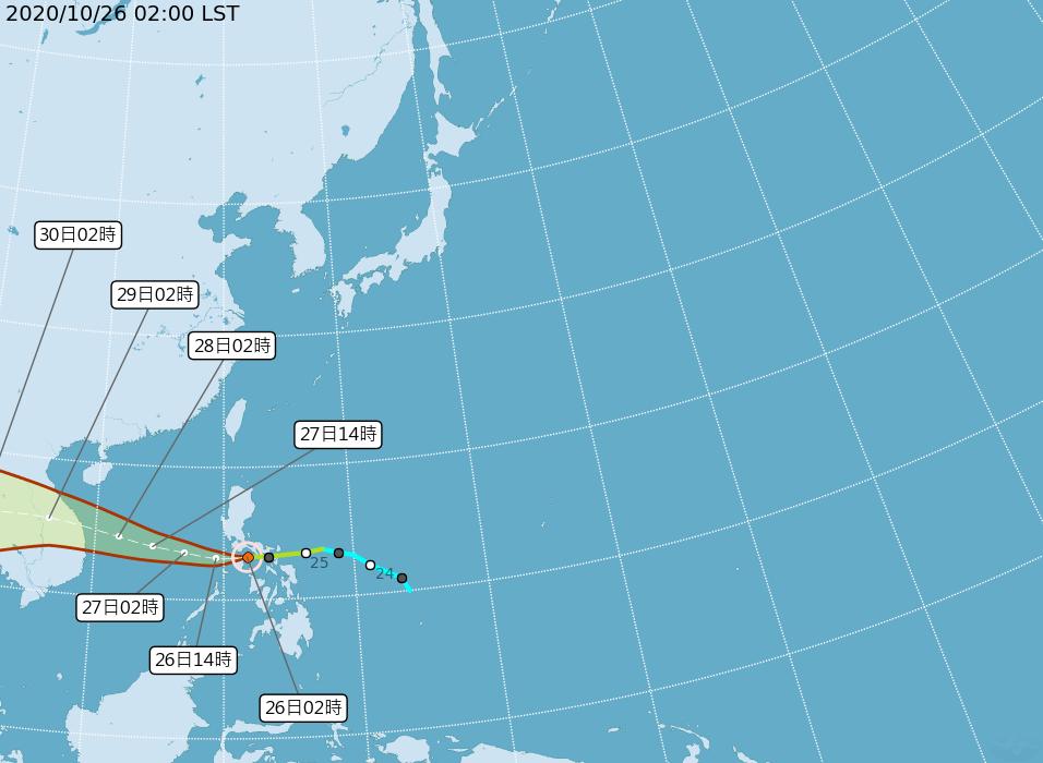 第18號颱風「莫拉菲」在菲律賓中部,即將進入南海,其路徑明顯較「沙德爾」偏南;距...