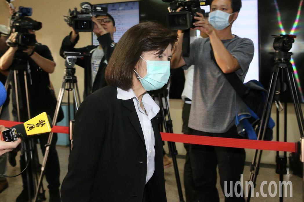 大同董事長林郭文艷涉違反證券交易法案,上午到台北地方法院出庭。記者林伯東/攝影