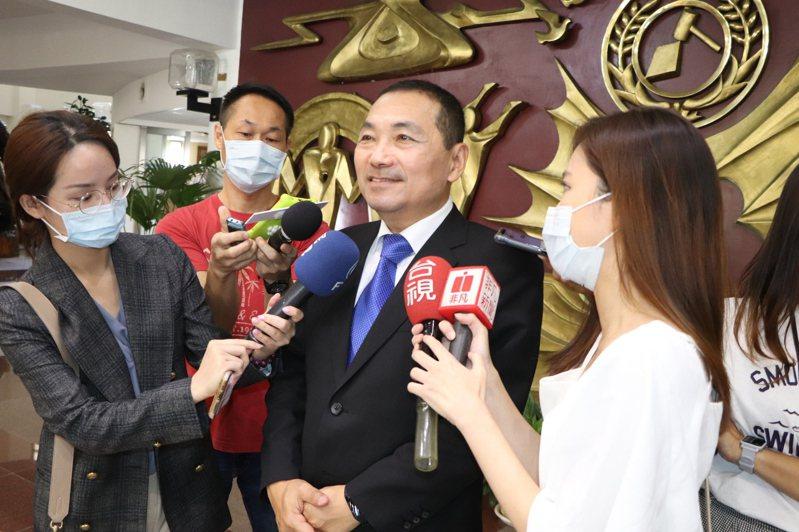 新北市長侯友宜今至議會接受市政總質詢。記者吳亮賢/攝影