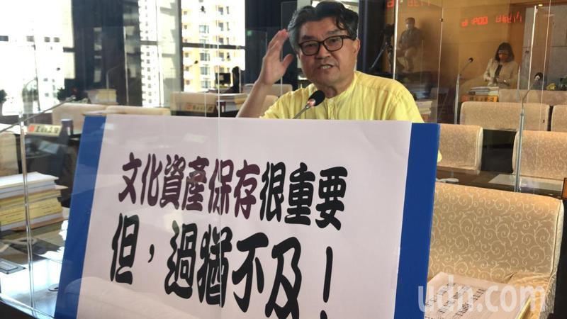 台中市議員李中建議市府反映給中央,速修文資法。記者陳秋雲/攝影