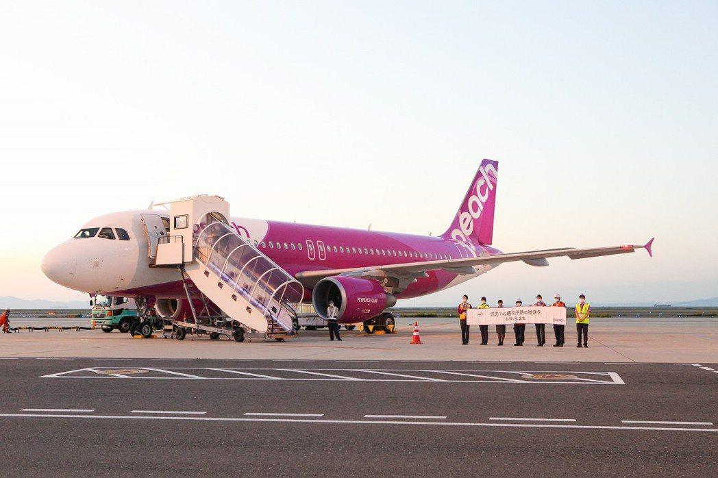 睽違七個月,樂桃航空恢復部分台日航線。圖/樂桃航空提供