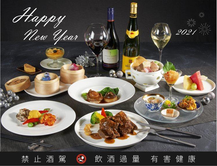 新葡苑四十六於大廳區所推出的「跨年套餐」,每人6,800元。圖/新葡苑四十六提供
