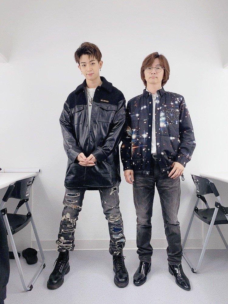 林隆璇(右)與兒子林亭翰。圖/青田音樂提供