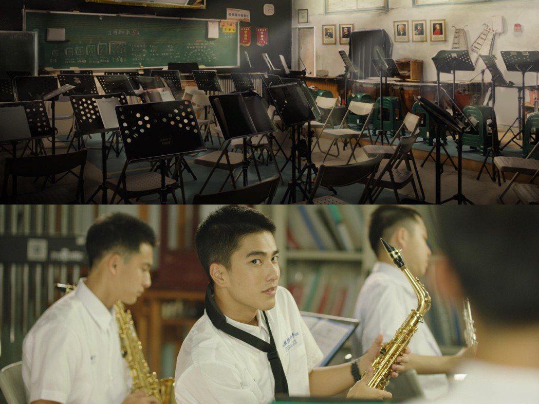 音樂教室場景設計圖和實景照。 圖/姚國禎提供