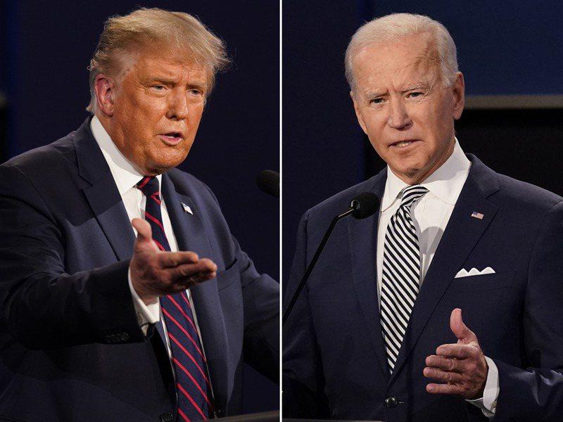 美國總統大選11月3日投票,究竟是共和黨的川普(左)能連任,或是民主黨的拜登(右)入主白宮,將牽動全球經濟和資本市場。 美聯社