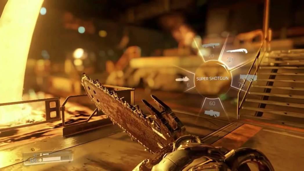 電鋸是《毀滅戰士》初代以來的經典武裝,鋸起來畫面真的是震動得非常厲害