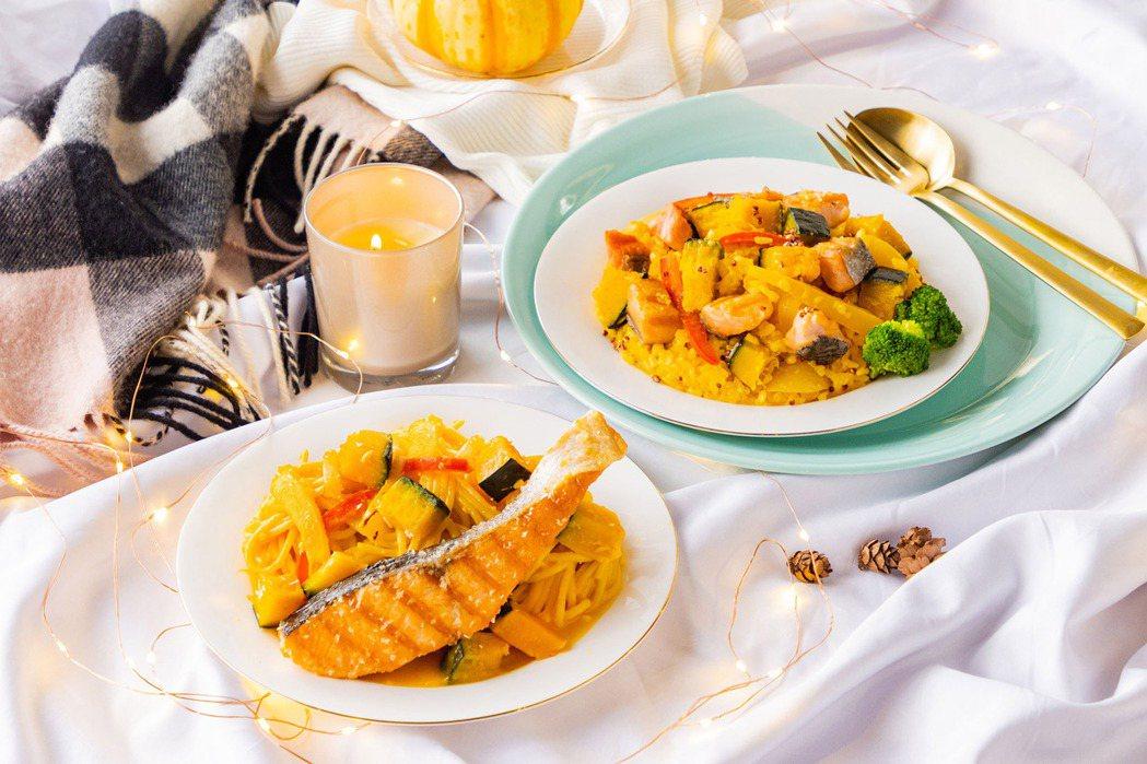 搭上秋冬之際,美威鮭魚端出適合歲末歡聚、將「鮭魚」與「南瓜」兩項營養食材入菜的的...