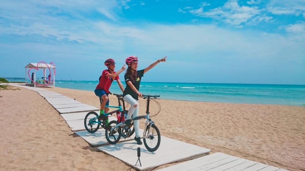 雄獅配置市價約6萬元高端品牌自行車款,於各大熱門旅遊景點設置服務據點並提供單車旅...