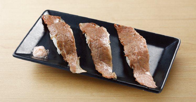 「點爭鮮」板橋店11月9日至22日推出炙燒牛肉加量不加價優惠。圖/點爭鮮提供