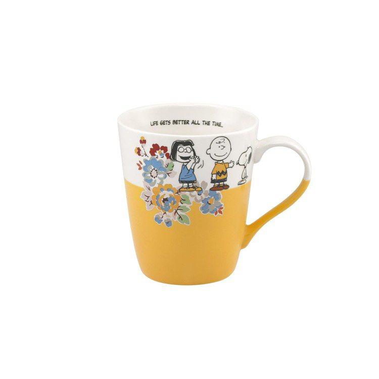 Snoopy聯名系列馬克杯(芥末黃),750元。圖/Cath Kidston提供