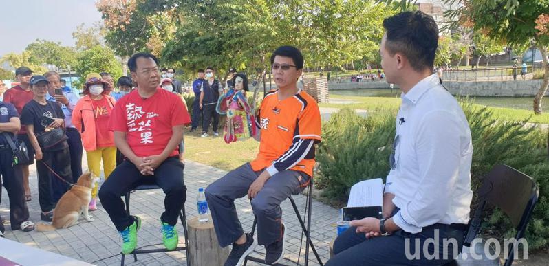 台南市議員謝龍介和台中市議員謝志忠,今天在豐原由UDN直播。記者游振昇/攝影