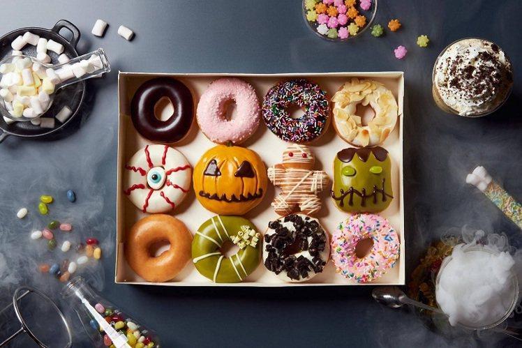 微風南京Krispy Kreme萬聖搞怪禮盒12入原價536元,特價430元。圖...