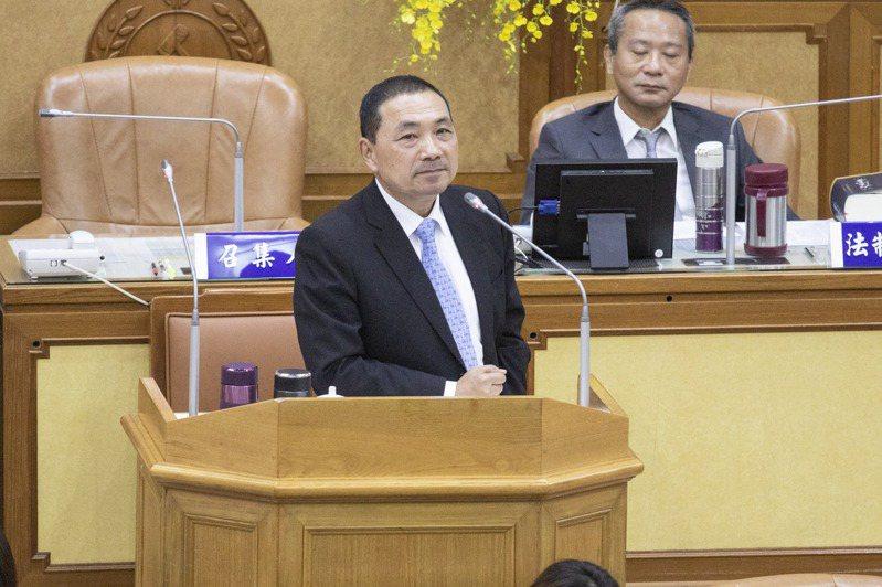 新北市長侯友宜說,他會呼籲民眾不要吃有萊克多巴胺的豬肉。記者王敏旭/攝影