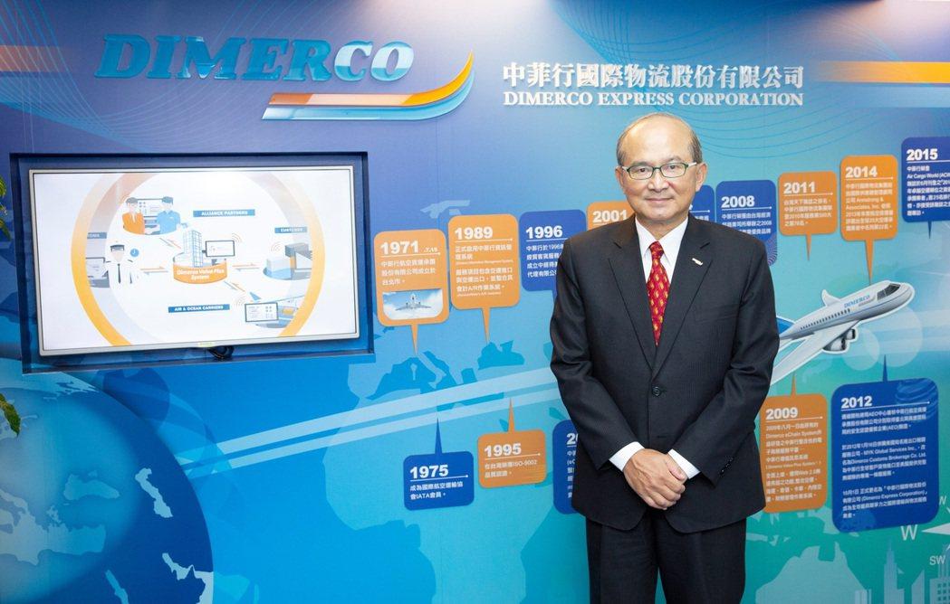 中菲行總經理邱鈞榮昨看好航空貨運旺到農曆年。業者/提供