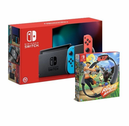 松果購物11月8日推出任天堂Switch健身環同捆包限量特價12,722元、售完...