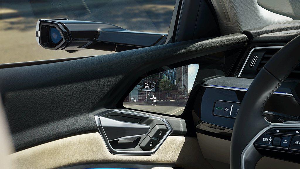 全數位虛擬後視鏡(Audi Virtual Exterior Mirror),整...