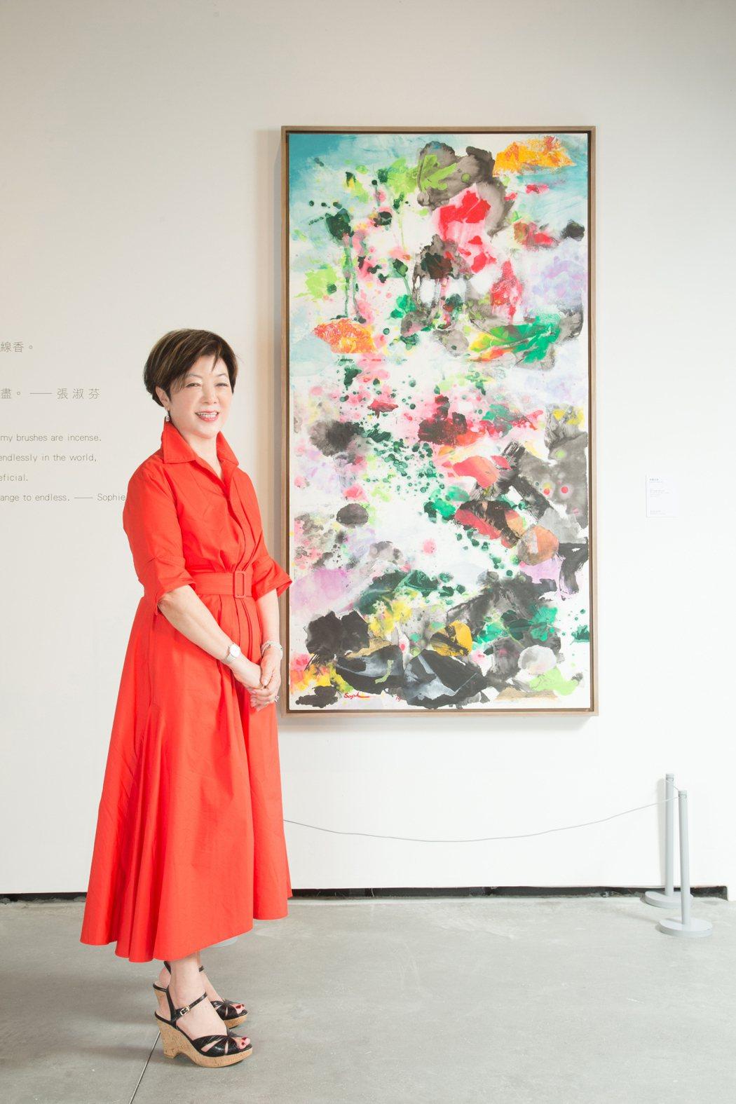 張淑芬不在意被標籤「張忠謀的太太」,但她同時也是畫家。記者陳立凱/攝影